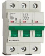 Malmbergs Normsäkring B-Karakterisk 3-Pol 6-50A 10Ka