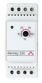 DEVIreg 330 +5+45°C 16A DIN-Termostat 5°C natt/dag IP20