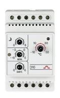DEVIreg 316 -10+50°C 16A Termostat IP20 8°C tempsänk