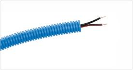 Flexrör med halogenfri högtalarkabel