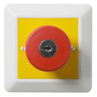 Elko RS 2-pol Nödstopp med låsskruv