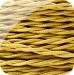 Tvinnad Tygkabel 2 Ledare | Guld