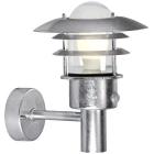 Nordlux L�nstrup 22V�gg m. sensor, Metall | Glas, Galvaniserat st�l