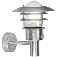 Nordlux Lønstrup 22Vägg m. sensor, Metall | Glas, Galvaniserat stål