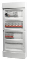 Rogy Förmonterad Elcentral 4-radig 48 moduler Inkl. Vit dörr