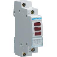 Hager Trippel LED Röd Signallampa SVN127