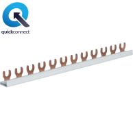 Hager 1-fasskena KDN för dvärgbrytare 1-fas 10-16kV
