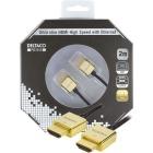 Deltaco HDMI kabel Prime 2m 1.4 Ha-Ha, guldpl�tterad