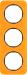 Berker R.1 Kombinationsram akryl orange/svart