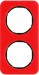 Berker R.1 Kombinationsram akryl röd/svart