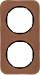 Berker R.1 Kombinationsram läder brun/svart