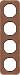 Berker R.1 Kombinationsram l�der brun/svart