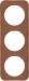 Berker R.1 Kombinationsram läder brun/vit