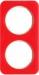 Berker R.1 kombinationsram akryl r�d/vit