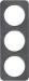 Berker R.1 Kombinationsram skiffer/vit