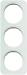 Berker R.1 Kombinationsram glas/vit