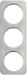 Berker R.1 Kombinationsram stål/vit