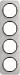 Berker R.1 Kombinationsram st�l/svart