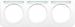 Berker R.1 kombinationsram med märklist Polarvit
