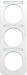Berker R.1 kombinationsram med m�rklist Polarvit