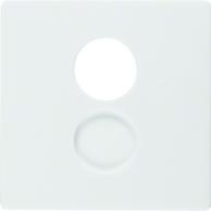 Berker Q.1/Q.3 Centrumbricka H�gtalare Polarvit sammet