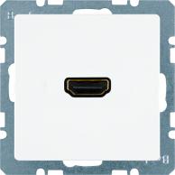 Berker Q.1/Q.3, Uttag HDMI 1.3, Polarvit sammet
