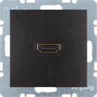 Berker S.1/B.3/B.7, Uttag HDMI 1.3, Antracit svart matt