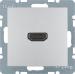 Berker S.1/B.3/B.7, Uttag HDMI 1.3, Aluminium lackad matt