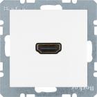 Berker S.1/B.3/B.7, Uttag HDMI 1.3, Polarvit matt