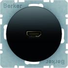 Berker R.1/R.3, Uttag HDMI 1.3, Svart blank
