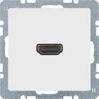 Berker Q.1/Q.3, Uttag 90�, HDMI 1.3, Polarvit sammet