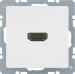 Berker Q.1/Q.3, Uttag 90°, HDMI 1.3, Polarvit sammet