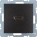 Berker S.1/B.3/B.7, Uttag 90° HDMI 1.3, Antracit svart matt