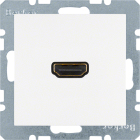 Berker S.1/B.3/B.7, Uttag 90� HDMI 1.3, Polarvit matt