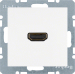 Berker S.1/B.3/B.7, Uttag 90° HDMI 1.3, Polarvit matt