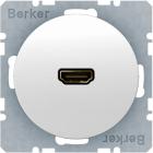 Berker R.1/R.3, Uttag 90� HDMI 1.3, Polarvit blank