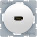 Berker R.1/R.3, Uttag 90° HDMI 1.3, Polarvit blank