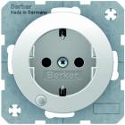 Berker R.1/R.3 V�gguttag 1-V LED-Indikator Jordad Vit