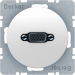 Berker R.1/R.3 Uttag VGA-Skruvanslutning, Polarvit blank