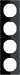 Berker R.3 Kombinationsram glas/svart