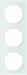 Berker R.3 Kombinationsram glas/polar-vit
