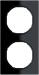 Berker R.3 Kombinationsram Plast svart