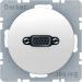 Berker R.1/R.3 Uttag VGA-VGA, Polarvit blank