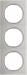 Berker R.3 Kombinationsram st�l/polar-vit