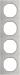 Berker R.3 Kombinationsram stål/polar-vit