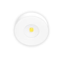 Xerolight LED Spot Slim Utanpåliggande 230V 3,3W 2700K 220lm 125° Rund Sandvit Glas