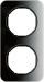 Berker R.1 Kombinationsram glas/svart
