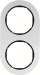 Berker R.Classic Kombinationsram Alu/Svart