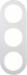 Berker R.Classic Kombinationsram Alu/Vit