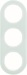 Berker R.Classic Kombinationsram Glas/Vit